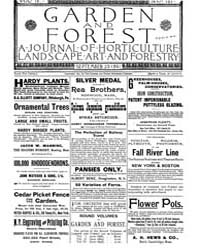 Garden and Forest Volume 4 Issue 187 Sep... by Charles S; Sargent