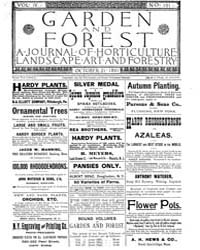 Garden and Forest Volume 4 Issue 191 Oct... by Charles S; Sargent