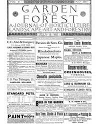 Garden and Forest Volume 5 Issue 229 Jul... by Charles S; Sargent