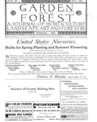 Garden and Forest Volume 6 Issue 262 Mar... by Charles S; Sargent