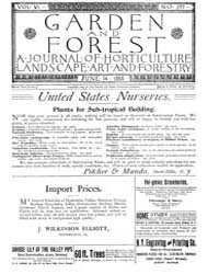 Garden and Forest Volume 6 Issue 277 Jun... by Charles S; Sargent