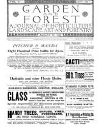 Garden and Forest Volume 6 Issue 288 Aug... by Charles S; Sargent