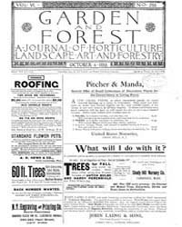 Garden and Forest Volume 6 Issue 293 Oct... by Charles S; Sargent
