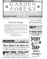 Garden and Forest Volume 7 Issue 316 Mar... by Charles S; Sargent