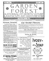 Garden and Forest Volume 8 Issue 359 Jan... by Charles S; Sargent