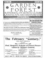 Garden and Forest Volume 8 Issue 362 Jan... by Charles S; Sargent