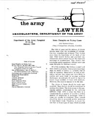 The Army Lawyer : January 1980 ; Da Pam ... Volume January 1980 ; DA PAM 27-50-85 by Alcala, Ronald T. P.