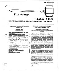 The Army Lawyer : January 1983 ; Da Pam ... Volume January 1983 ; DA PAM 27-50-121 by Alcala, Ronald T. P.