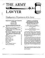 The Army Lawyer : January 1984 ; Da Pam ... Volume January 1984 ; DA PAM 27-50-133 by Alcala, Ronald T. P.