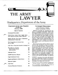 The Army Lawyer : January 1985 ; Da Pam ... Volume January 1985 ; DA PAM 27-50-145 by Alcala, Ronald T. P.