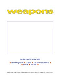 Nuclear Weapons Journal (Nwj); September... Volume September-October; 2003 by Burgess, Margaret