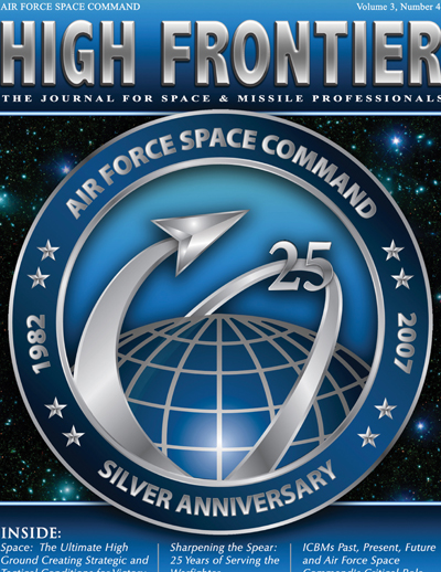 High Frontier Journal : Afspc 25Th Anniv... by Adams, Lt. Col Marcella