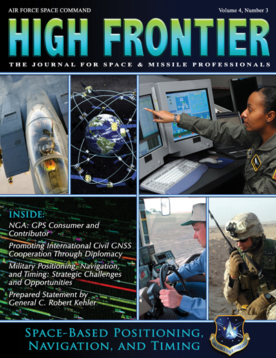High Frontier Journal : Space-Based Pnt;... by Adams, Lt. Col Marcella