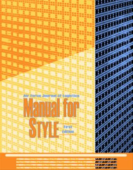 Manuals for Style : 2003 Volume First Edition, July 2003 by Rainey, James C.