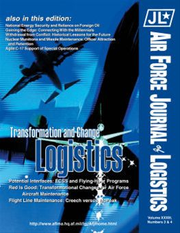 Air Force Journal of Logistics : 2008 Volume 33, Issues 3 & 4 by Rainey, James C.