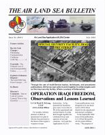 Air Land Sea Bulletin : July 2003 Volume Issue 2 by Waggener, Bea