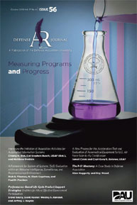 Defense Acquisition Review Journal : Oct... Volume Oct-10 by Fagan-Blanch, Norene L.