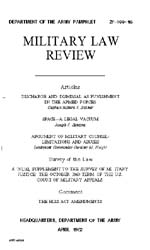 Military Law Review : April 1962 ; Volum... by Department of the Army, Headquarters