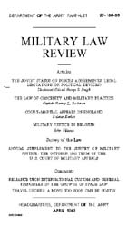 Military Law Review : April 1963 ; Volum... by Department of the Army, Headquarters