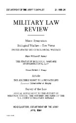 Military Law Review : April 1964 ; Volum... by Department of the Army, Headquarters