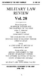 Military Law Review : April 1965 ; Volum... by Department of the Army, Headquarters
