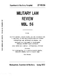 Military Law Review : April 1972 ; Volum... by Department of the Army, Headquarters