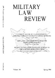 Military Law Review : April 1984 ; Volum... by Department of the Army, Headquarters