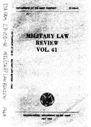 Military Law Review : July 1968 ; Volume... by Department of the Army, Headquarters