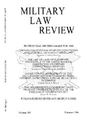 Military Law Review : July 1984 ; Volume... by Department of the Army, Headquarters