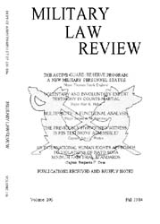 Military Law Review : October 1984 ; Vol... by Department of the Army, Headquarters