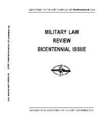 Military Law Review : September 1975 ; B... by Department of the Army, Headquarters