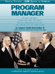 Program Manager Magazine : January-Febru... Volume January-February 1998 by Johnson, Collie