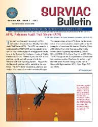 Surviac Bulletin : Issue 1 ; 2003 Volume Issue 1 by Ryan, Linda