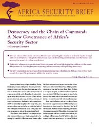 Democracy and the Chain of Command : A N... Volume ACSS; November 2010 by Djindjere, Dominique