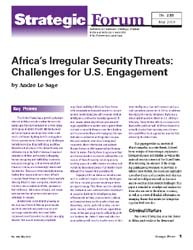Africa's Irregular Security Threats : Ch... Volume Strategic Forum 255; May 2010 by Le Sage, Andre