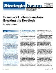 Somalia's Endless Transition : Breaking ... Volume Strategic Forum 257; June 2010 by Le Sage, Andre