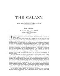 The Galaxy Volume 0006 Issue 2 (Aug 1868... by Sheldon and Company