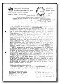 World Health Organization : Report on a ... by John H. Cross