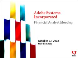 Adobe Systems Incorporated Financial Ana... by Adobe Systems
