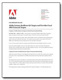 Adobe Systems Reaffirms Q4 Targets and P... by Adobe Systems