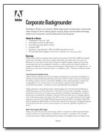 Corporate Backgrounder Building on 20 Ye... by Adobe Systems