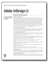 Adobe Indesign Cs : Frequently Asked Que... by Adobe Systems
