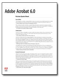 Adobe Acrobat 6. 0 Partner Quote Sheet by Adobe Systems