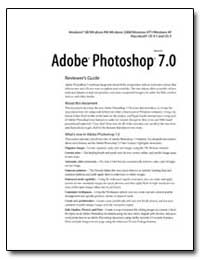 Adobe Photoshop 7. 0 : Reviewer's Guide by Adobe Systems