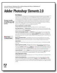 Adobe Photoshop Elements 2. 0 : At a Gla... by Adobe Systems