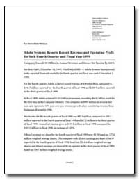 Adobe Systems Reports Record Revenue and... by Adobe Systems
