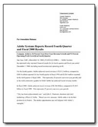 Adobe Systems Report Record Fourth Quart... by Adobe Systems