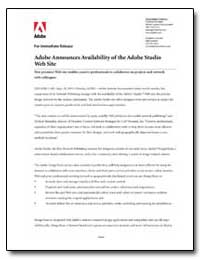 Adobe Announces Availability of the Adob... by Adobe Systems