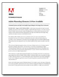 Adobe Photoshop Elements 2. 0 Now Availa... by Adobe Systems