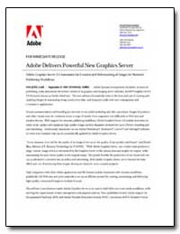 Adobe Delivers Powerful New Graphics Ser... by Adobe Systems